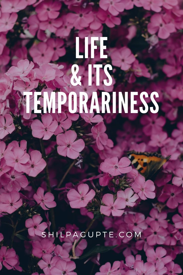 Life & its temporariness