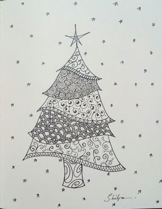 Zentangle X'Mas Tree