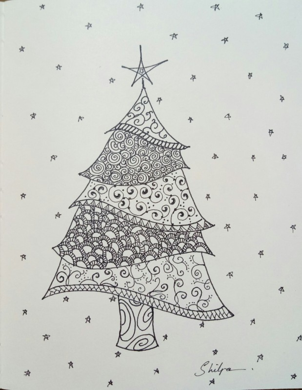Zentangle X'Mas Tree