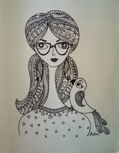 Zentangle selfie