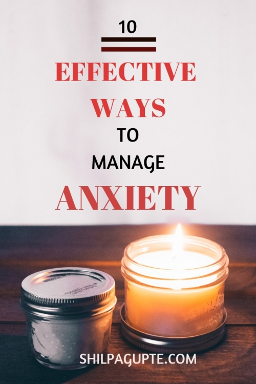 Manage your anxiety the easy way