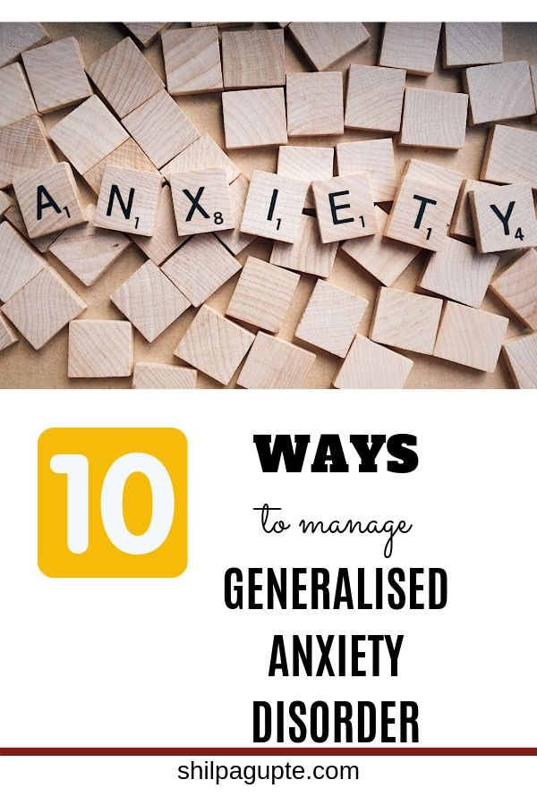 WAYS to manage GENERALISED ANXIETY DISORDER
