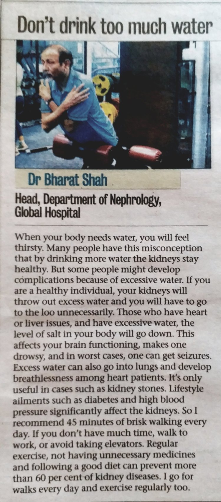 Too much water can harm your health!