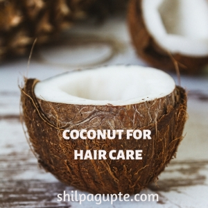 Coconut oil for lustrous hair