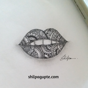 LIPS IN ZENTANGLE