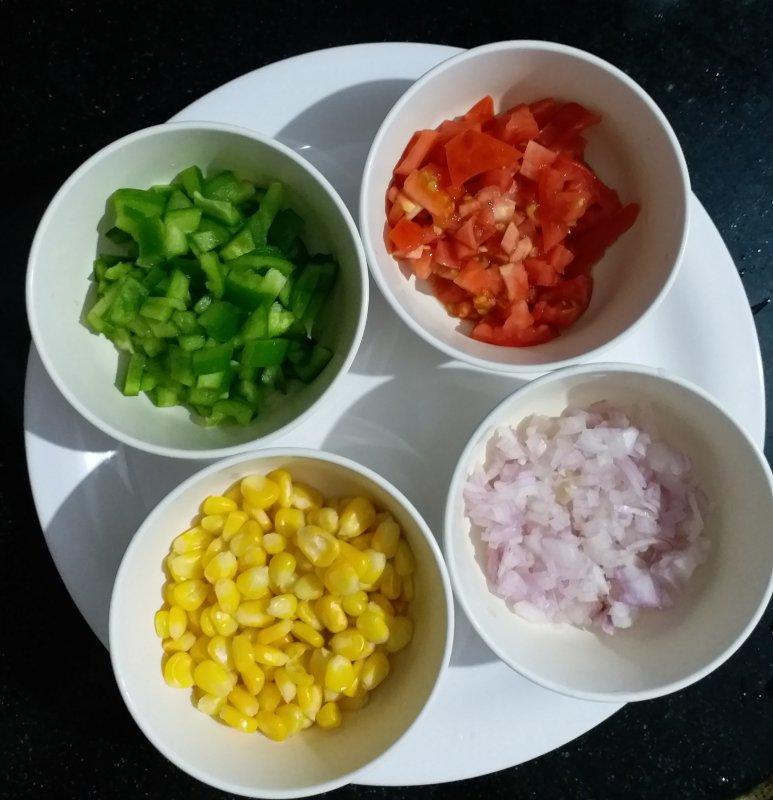 Ingredients for corn salad