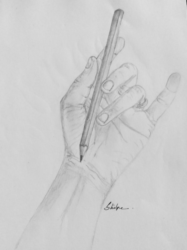 Pencil sketch of a hand