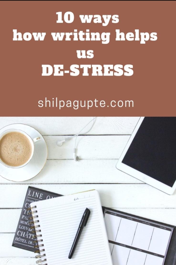 Writing to de-stress