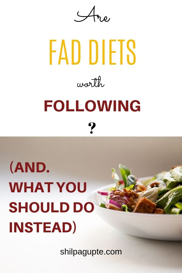 ARE FAD DIETS REALLY WORTH IT?
