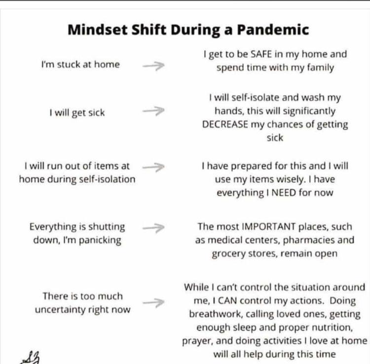 Mindset shift during a pandemic
