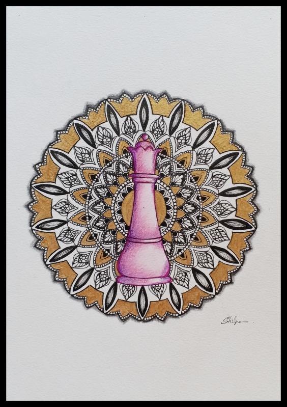 Mandala in ink.