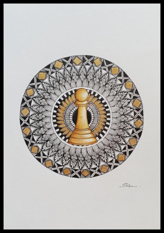 Mandala in ink